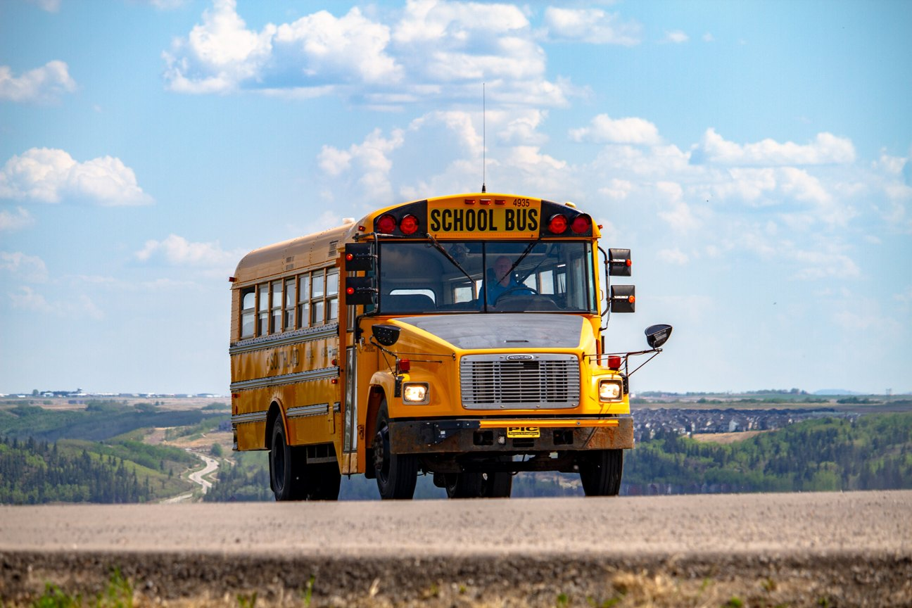 A converted school bus is also called a skoolie.