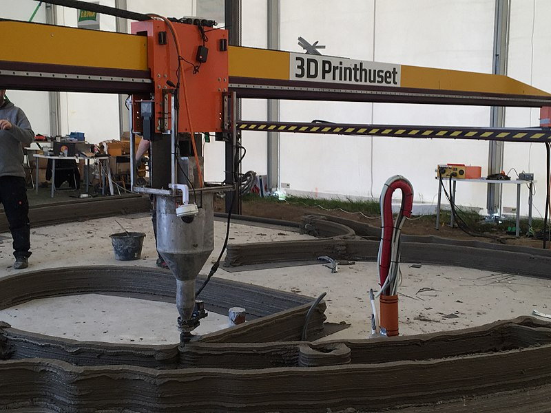 3DPrinthuset robotic printer builds a 3D printed house.